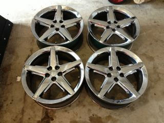 and Up PT Cruiser 17 Chrome Empire Wheels Rims Factory OEM