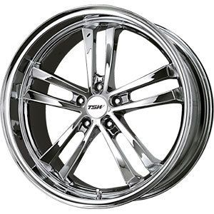 New 19x8 5x100 TSW Mondello Chrome Wheel Rim