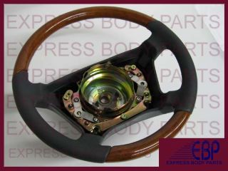 Mercedes Benz Steering Wheel Leather Wood W140 Gray Grey Light Wood