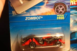 1996 Hot Wheels Zombot Black Orange Card 460
