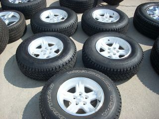 15 JEEP WRANGLER TJ WHEELS TIRES RIMS SILVER 1997 2006 GOODYEAR 9050