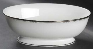 Lenox China Library Lane Platinum 9 Oval Vegetable Bowl, Fine China Dinnerware