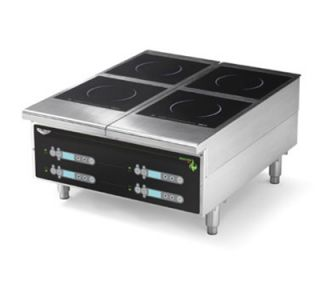 Vollrath Heavy Duty Countertop Induction Hotplate   4 Hob, Digital, 208 240v
