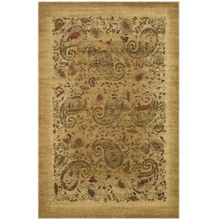 Lyndhurst Collection Paisley Beige/ Multi Rug (6 X 9)