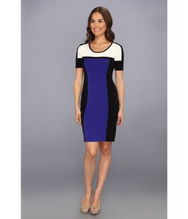 Calvin Klein Colorblock Sweater Dress Womens Dress (Black)