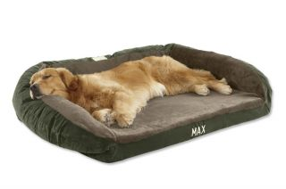 Faux fur Deep Dish Dog Bed Cover / Medium, Hunter Green,