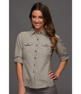 Outdoor Research Reflection L/S Shirt Womens Long Sleeve Button Up (Gray)