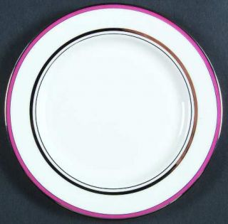 Lenox China Library Lane Pink Bread & Butter Plate, Fine China Dinnerware   Kate