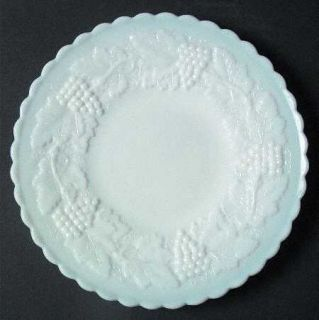Imperial Glass Ohio Vintage Grape Milk Glass 7 Salad Plate   Milk Glass,Grape D