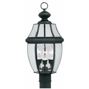 Thomas Lighting THO SL90247 Heritage Lantern post Black 3x60W 120V