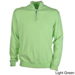 Luigi Baldo Italian Made Mens Cashmere 1/4 Zip Sweater