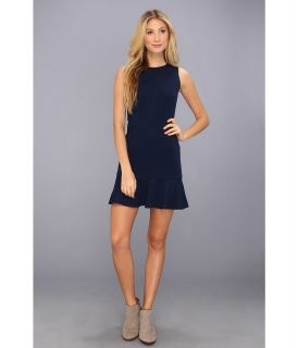 Nicole Miller Reed Crew Neck Dress Womens Dress (Navy)