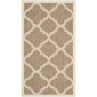 Safavieh Indoor/ Outdoor Courtyard Brown Rug (27 X 5)