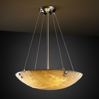 Justice Design Group Porcelina 3 Light Inverted Pendant PNA 9661 Shade Option