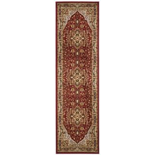 Safavieh Lyndhurst Collection Red/ Black Rug (23 X 22)