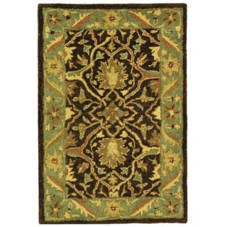 Safavieh Antiquities Brown/Green Rug AT14F Rug Size Oval 76 x 96