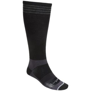 Lorpen Lightweight Ski Socks   2 Pack  Merino Wool (For Men)   CHARCOAL/RED (L )