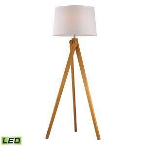 Dimond Lighting DMD D2469 LED Wooden Tripod Wooden Tripod Floor Lamp LED