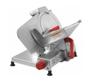 Axis 12 Light Duty Meat Slicer   Belt Driven, Built In Sharpener, Aluminum, .25 hp, 120v