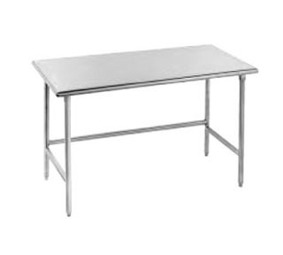 Advance Tabco 72 Work Table   Bullet Feet, 30 W, 14 ga 304 Stainless
