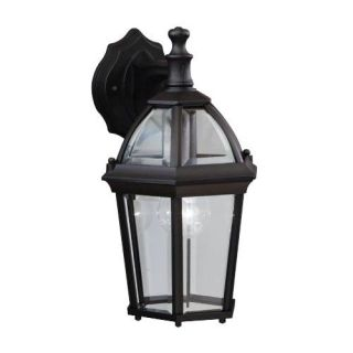 Kichler 9250BK Outdoor Light, Classic (Formal Traditional) Wall 1 Light Fixture Black (Painted)