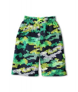 Nike Kids Tech Camo Volley Short Boys Swimwear (Green)