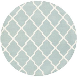 Safavieh Dhurries Light Blue/Ivory Rug DHU634C