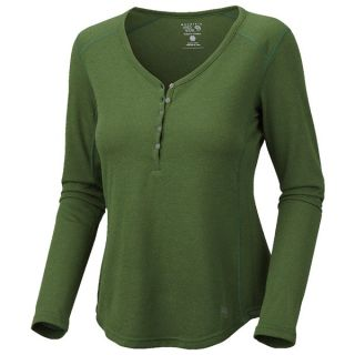 Mountain Hardwear Trekkin Thermal Henley Shirt   UPF 15  Long Sleeve (For Women)   WINK (S )