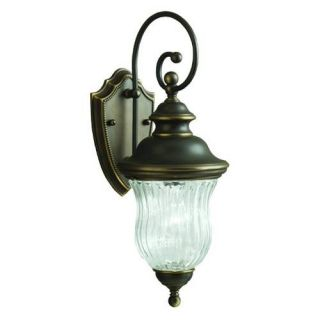 Kichler 9412OZ Outdoor Light, Classic (Formal Traditional) Wall 1 Light Fixture Olde Bronze