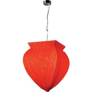 PLC Lighting PLC 73034 RED CFL Bombay 1 Light Pendant Bombay Collection