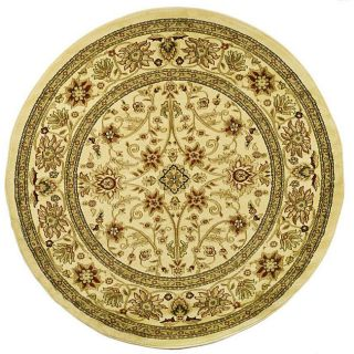 Lyndhurst Collection Majestic Ivory/ Ivory Rug (53 Round)