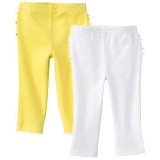 Just One YouMade by Carters Newborn Girls 2 Pack Pant   Yellow/White 6 M