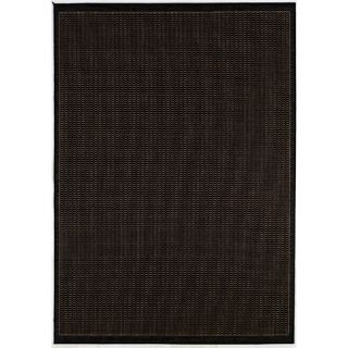 Couristan Recife Saddle Stitch Black Cocoa Rug 1001/2000X Rug Size 86 x 13