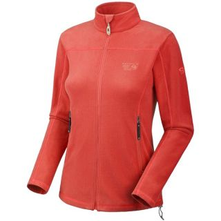 Mountain Hardwear Microchill Jacket   Fleece (For Women)   POPPY RED (XS )