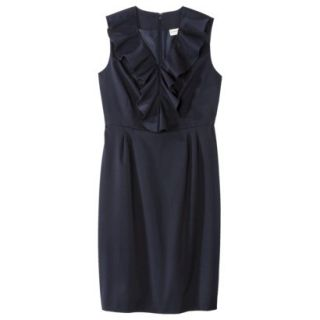 Merona Petites Sleeveless Sheath Dress   Blue 18P