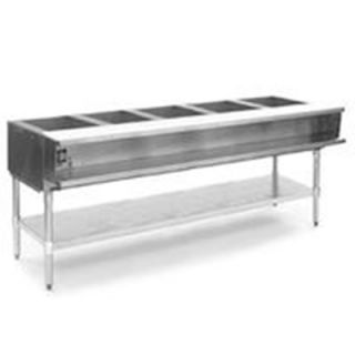 Eagle Group 79 Hot Food Table   5 Wells, Infinite, Cutting Board, Undershelf, 120v