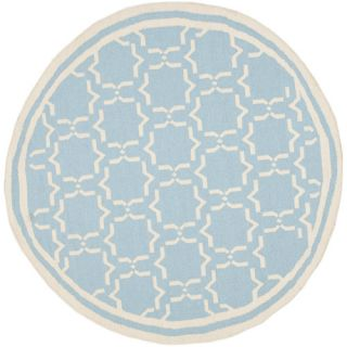 Safavieh Dhurries Light Blue/Ivory Rug DHU545B Rug Size Round 6