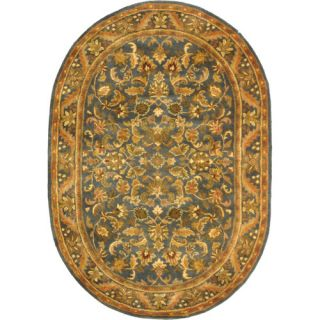 Safavieh Antiquities Majesty Blue/Gold Rug AT52C Rug Size Oval 46 x 66