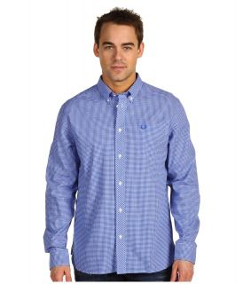 Fred Perry Gingham Shirt Mens Clothing (Blue)