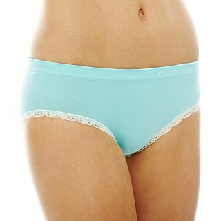 THE BODY Elle Macpherson Intimates Seamless Bikini Panties, Aqua Splash Pristi