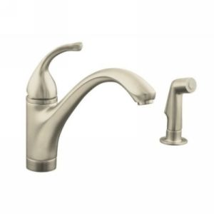 Kohler K 10416 BN Forte Single Handle Kitchen Faucet with Sidespray