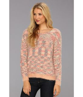 BCBGeneration L/S Round Neck Sweater Top Womens Sweater (Pink)