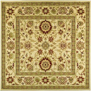 Lyndhurst Collection Majestic Ivory/ Ivory Rug (6 Square)
