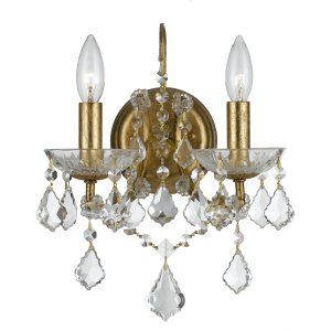 Crystorama Lighting CRY 4452 GA CL S Filmore Filmore 2 Light Elements Crystal Go