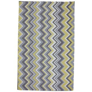 Mohawk Select Outdoor/Patio Yellow Ella Zig Zag Rug 11742 432 M60096/11742 43