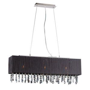 PLC Lighting PLC 73052 BLACK Vibba 3 Light Pendant Vibba Collection