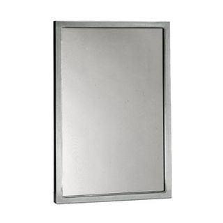 Bobrick B290 2436 24 x 36 6 Glass Mirror with Stainless Steel Frame