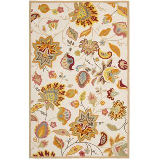 Safavieh Four Seasons Ivory / Yellow Rug FRS413B Rug Size 26 x 4