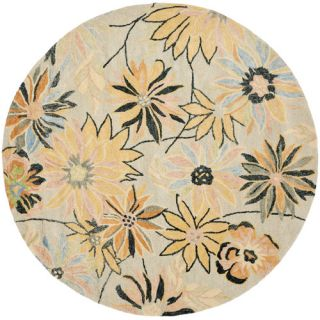 Safavieh Blossom Light Blue / Multi Rug BLM789A  Rug Size Round 6