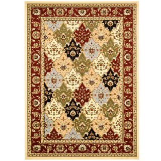 Lyndhurst Collection Multicolor/ Red Rug (53 X 76 ) (MultiPattern OrientalMeasures 0.375 inch thickTip We recommend the use of a non skid pad to keep the rug in place on smooth surfaces.All rug sizes are approximate. Due to the difference of monitor col